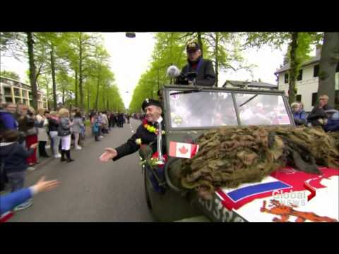 Canadian WW2 veterans visit the Netherlands 70th anniversary VE Day