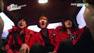EXO (엑소)  - 차에서 노래해요 (Black Pearl + Lucky)