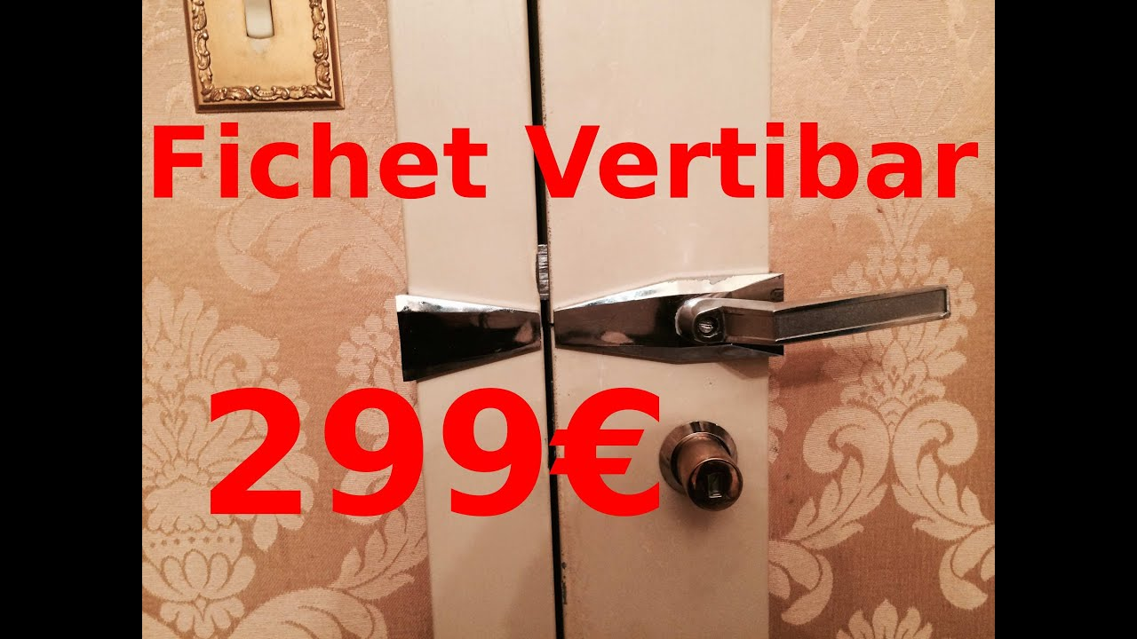 tutoriel changer de serrure fichet vertibar pas cher cylindre fichet 787 concave youtube. Black Bedroom Furniture Sets. Home Design Ideas