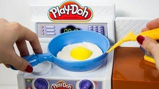 Play Doh Meal Makin Kitchen Playset Play Dough Mini Kitchen Chef Cocinita de Juguete Toy Videos