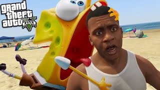 FRANKLIN meets SPONGEBOB but ITS HORRIBLE (GTA 5 Mods)
