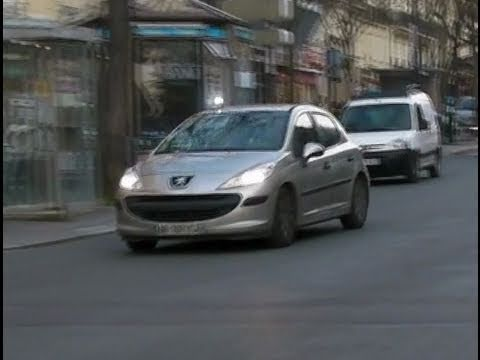 unmarked police car responding in paris voiture banalis e bac youtube. Black Bedroom Furniture Sets. Home Design Ideas
