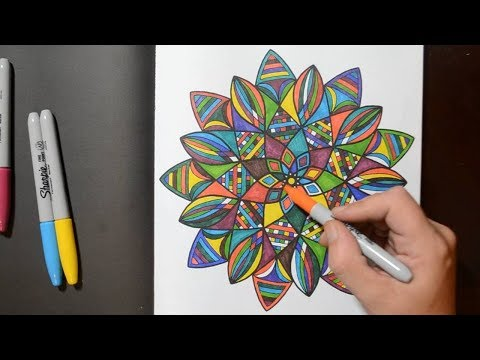 coloring-a-mandala-pattern-design-with-sharpies-in-(my-new-book)