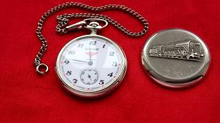 Карманные часы Serkisof Garanti Молния СССР Паровоз