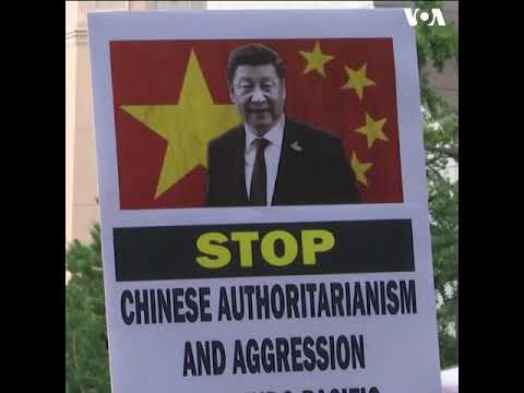G20峰会召开之际 维吾尔、西藏和香港等人权团体在大阪举行集会