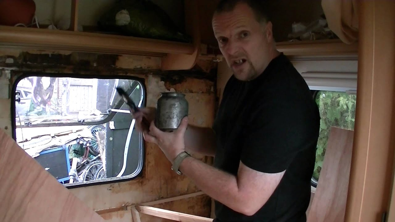 How To   Repair A Caravan Water Leak Damage   Part 2   Wall Board Cutting U0026  Fitting     YouTube