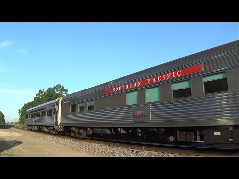 Heritage Unit Leads Amtrak with Two Private Cars
