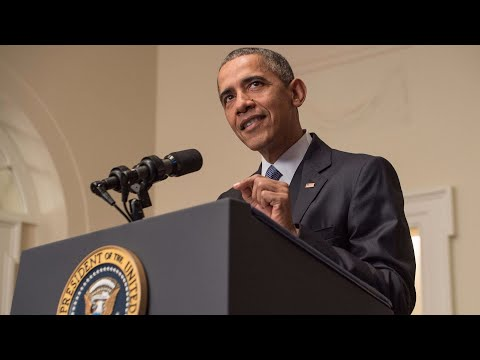 Obama delivers remarks in New York