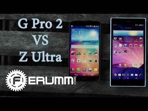 LG G Pro 2 VS Sony Xperia Z Ultra сравнение. Битва тяжеловесов G Pro 2 VS Z Ultra от FERUMM.COM
