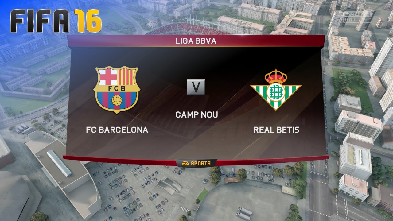 febb71303 FIFA 16 - FC Barcelona vs. Real Betis   Camp Nou (Season  16  17 ...
