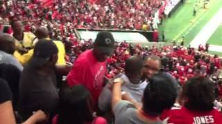 Fight Breaks Out at Falcons Game (Falcons vs Rams 2013) part 1