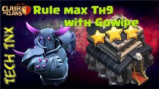 TRI-GOWIPE + QUAD QUAKE - 2017 | Easily 3 stars on Max th9  | New War Attack Strategy |Ruling th9