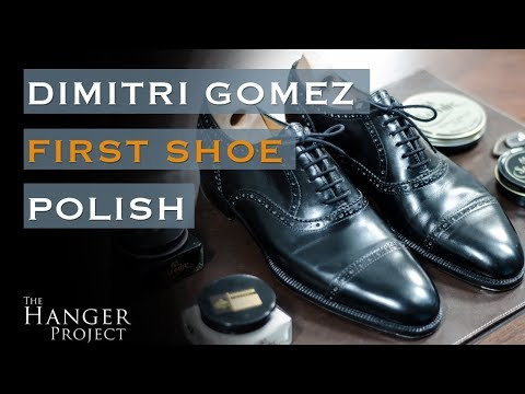 First Shoe Polish: Dimitri Gomez Cap Toe Oxfords