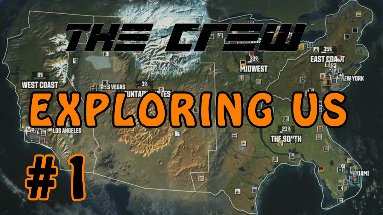 The Crew Beta Exploring US Free Drive Part Driving To Las - The crew us map