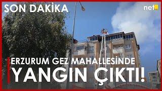 Son Dakika! Erzurum Gez Mahallesindeki Apartmanın Çatı Katında Yangın Çıktı!