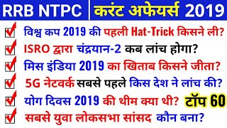 RRB NTPC Current Affairs 2019 | Group D Current Affairs, SSC Current Affairs, Railway Current GK |