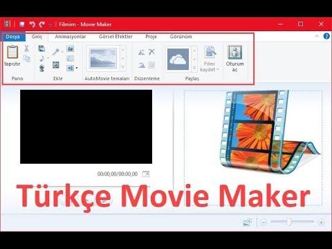 Movie Maker Türkçe Yapma
