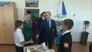 Putin Visits Krasnodar Presidential Cadet School & Sees Facilities,Classrooms,Stadium,Gym,Ice rink