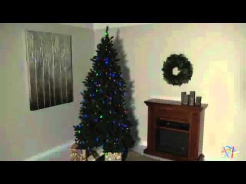 led remote control 8 function columbus pine christmas tree product review video - Remote Control Christmas Tree