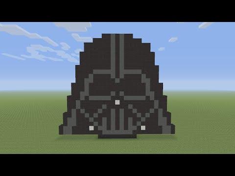 Minecraft Pixel Art Darth Vader Helmet From Star Wars