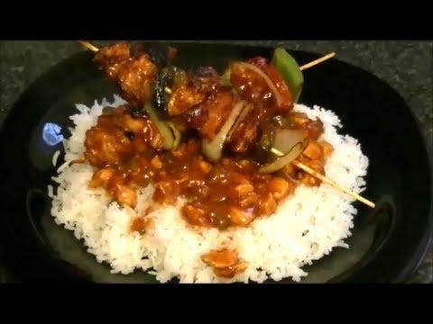 recipe for chicken gravy and rice recipe