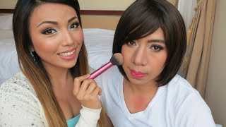 Repeat youtube video Husband gets a Girl Makeover