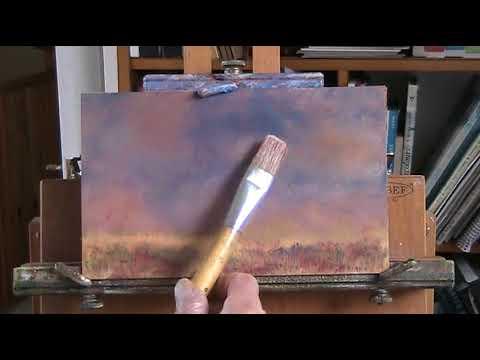 """""""Solitude"""" Wet in wet oil painting."""
