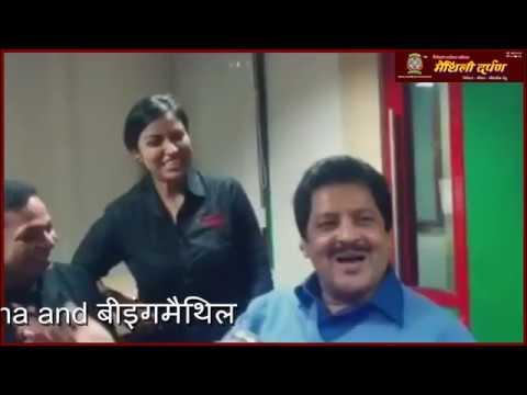 Udit Narayan singing in maithili at Radio mirchi patna