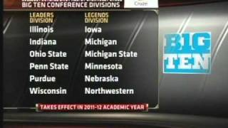 Big Ten Conference New Logo, Legends and Leaders Divisions
