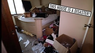 TRASH OUT FORECLOSURE DISASTER HOUSE BID!
