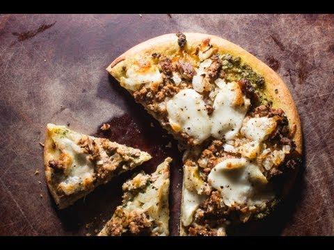 Leftover Meatloaf Pizza