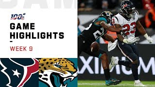 Texans vs. Jaguars Week 9 Highlights | NFL 2019