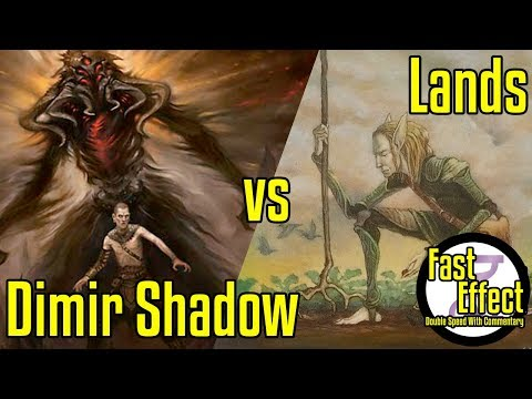 Dimir Shadow Vs Lands | Legacy Magic: The Gathering W/Commentary | Brainstorm MTG | Fast Effect