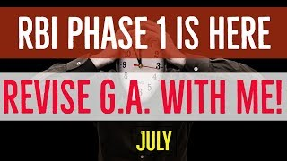 JULY CURRENT AFFAIRS REVISION FOR PHASE 1 | RBI GRADE B 2018