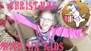 Opening Christmas Presents with 6 Kids!!