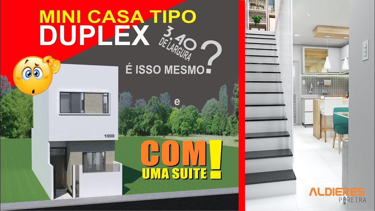 Download MINI CASA COM 3,40 x 10 TIPO DUPLEX? ESSA VOCÊ NÃO PODE PERDER...