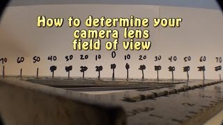 Determine your Camera Field of View.