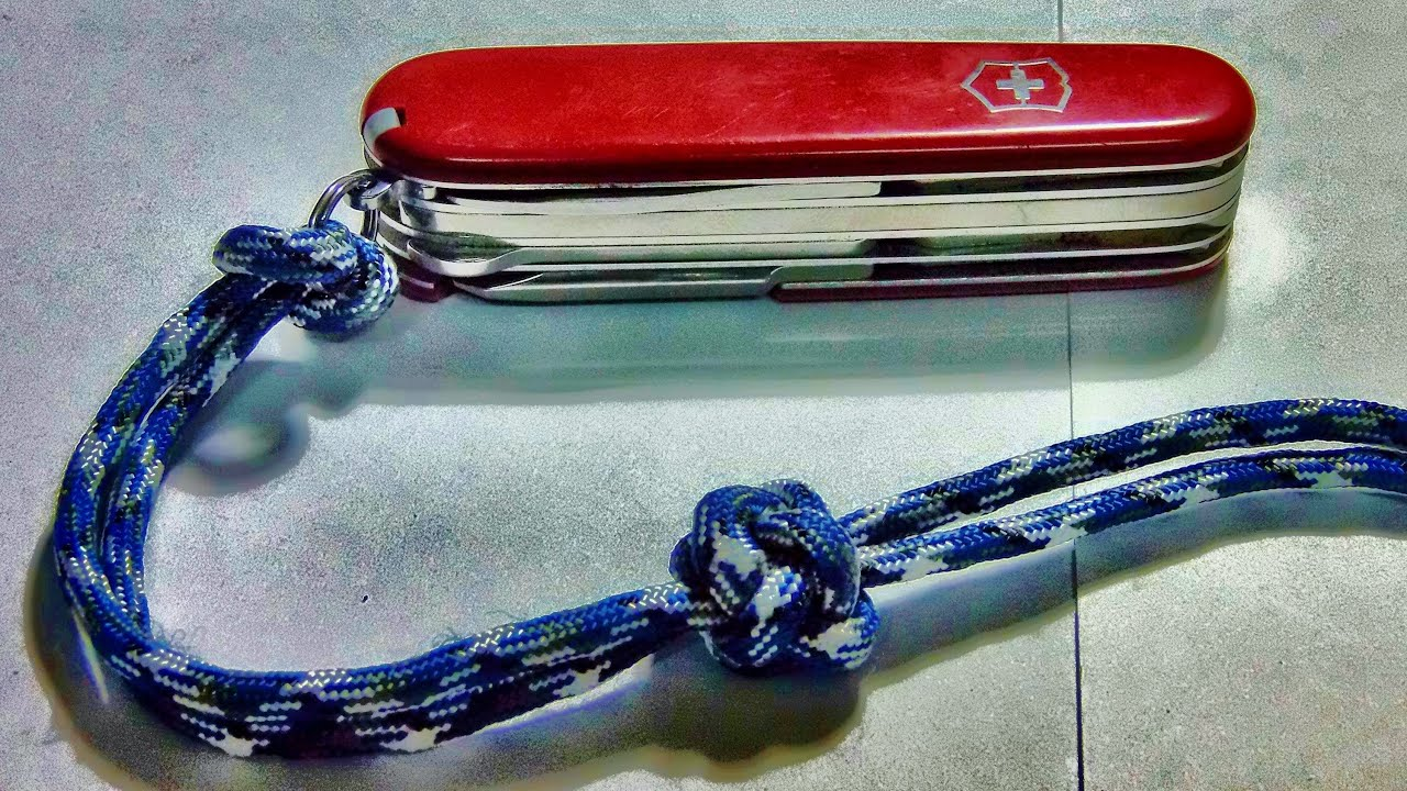 How To Tie Make A Paracord Lanyard Knot Youtube