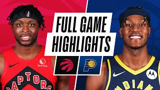 RAPTORS at PACERS | FULL GAME HIGHLIGHTS | January 24, 2021