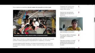 Mensaje sobre terremoto en Ecuador