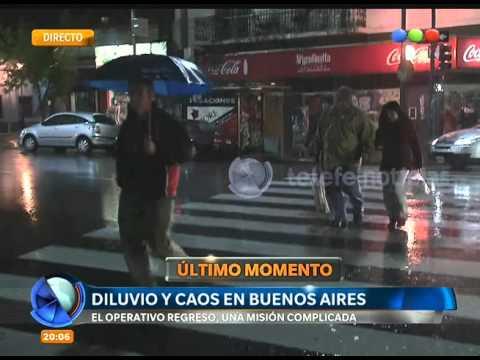 Diluvio y caos en Buenos Aires - Telefe Noticias