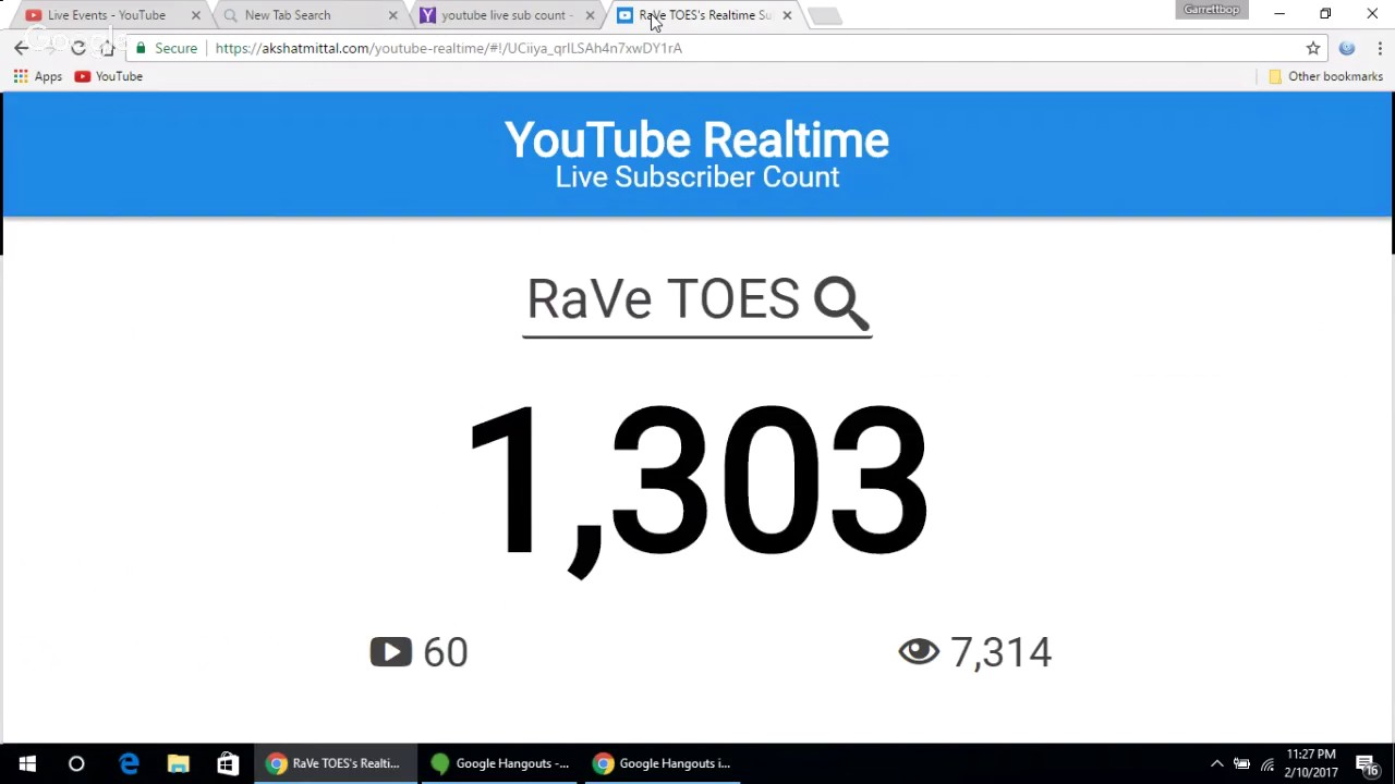 Live Sub Count Trying To Get 2 000 Subscribers Youtube
