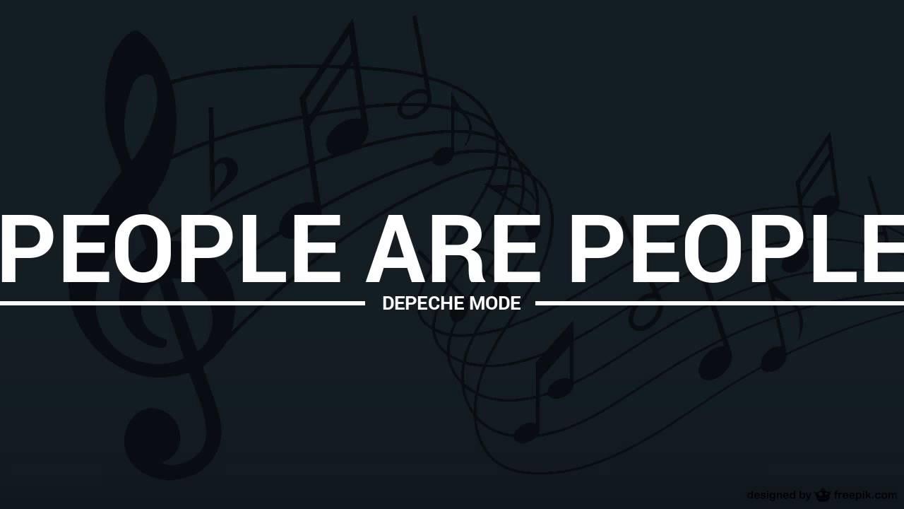 Depeche Mode - People Are People Lyrics | MetroLyrics