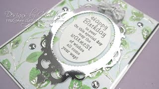 Create a lovely background with an embossing folder from Card Makin...