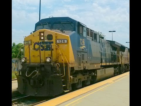 CSX 126, The Del Mar Block, and other trains in Commerce & Montebello 7-19-15