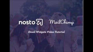 Nosto Email Personalization Widgets: Mailchimp Tutorial
