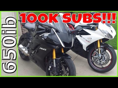 2017 Yamaha R6 vs Triumph Daytona 675R TEASER | 100K Subscribers!!!