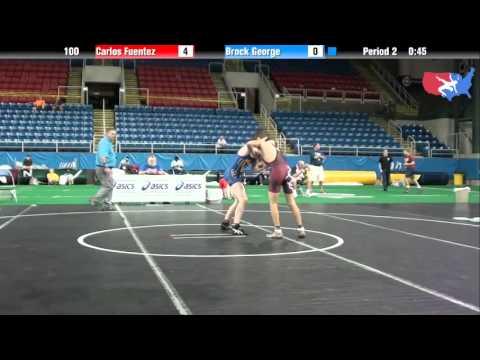 Fargo 2012 100 Round 3: Carlos Fuentez (Illinois) vs. Brock George (Utah) streaming vf