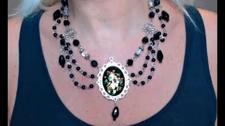 VICTORIAN BEADED DRIPPING CHAINS CHOKER