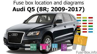 Fuse box location and diagrams: Audi Q5 (8R; 2009-2017) - YouTube   2015 Audi Q5 Engine Diagram      YouTube